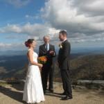 Rev. Tom of HeartLIght Weddings performs a ceremony at Bucks Gap wed.